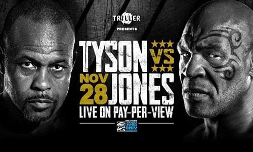 Watch Mike Tyson vs. Roy Jones Jr 11/28/2020