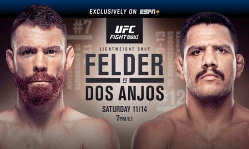 Watch UFC Fight Night 183: Felder vs. dos Anjos 11/14/2020