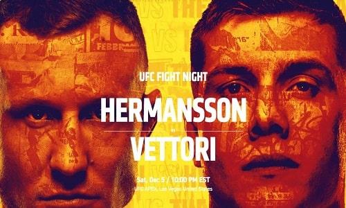 Watch UFC on ESPN: Hermansson vs. Vettori 12/5/2020
