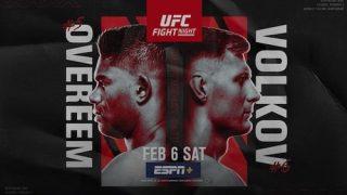 Watch UFC Fight Night Vegas 18: Overeem vs. Volkov 2/6/21 Full Show