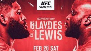 Watch UFC Fight Night Vegas 19: Blaydes vs. Lewis 2/20/21 Full Show