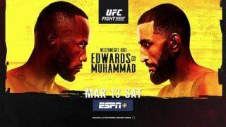 Watch UFC Fight Night Vegas 21: Edwards vs. Muhammad 3/13/21 Full Show