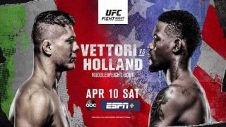 Watch UFC Fight Vegas 23: Vettori vs. Holland 4/10/21