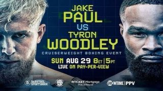 Watch Boxing: Jake Paul vs. Tyron Woodley 8/29/21