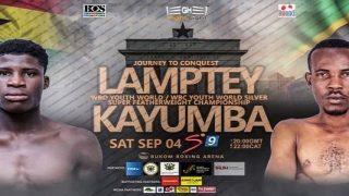 Boxing: Alfred Lamptey vs. Iddi Kayumba 9/4/21