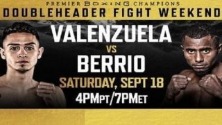 PBC Valenzuela vs. Berrio 9/18/21